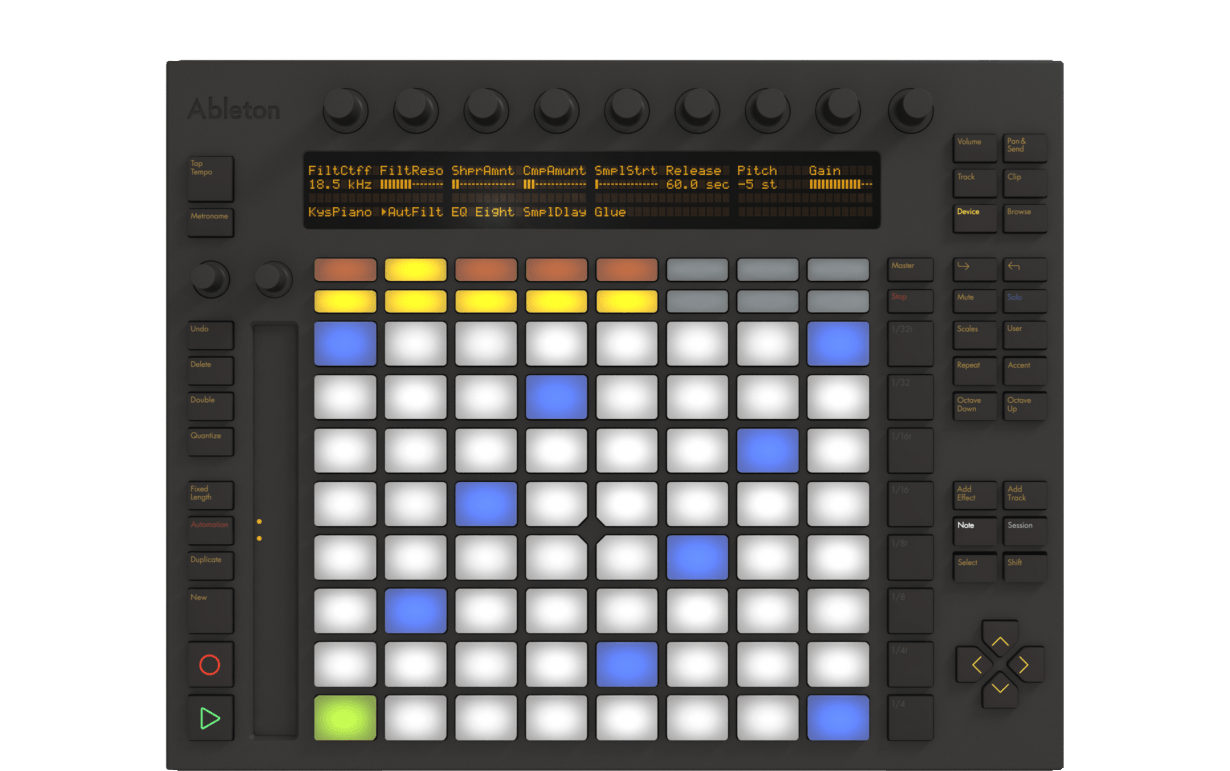 Ableton push front