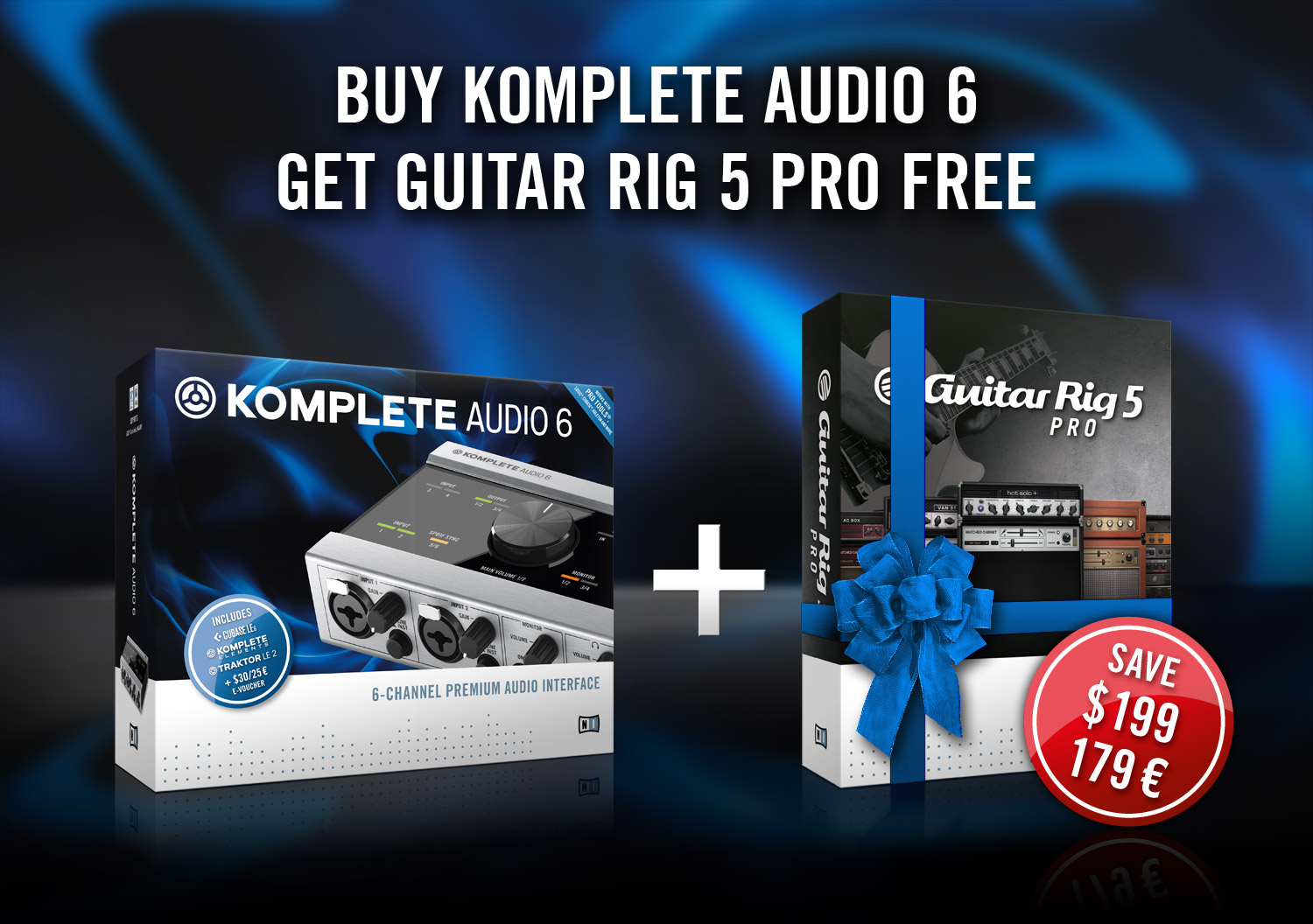 Native Instruments Komplete Audio 6 and Guitar Rig offer