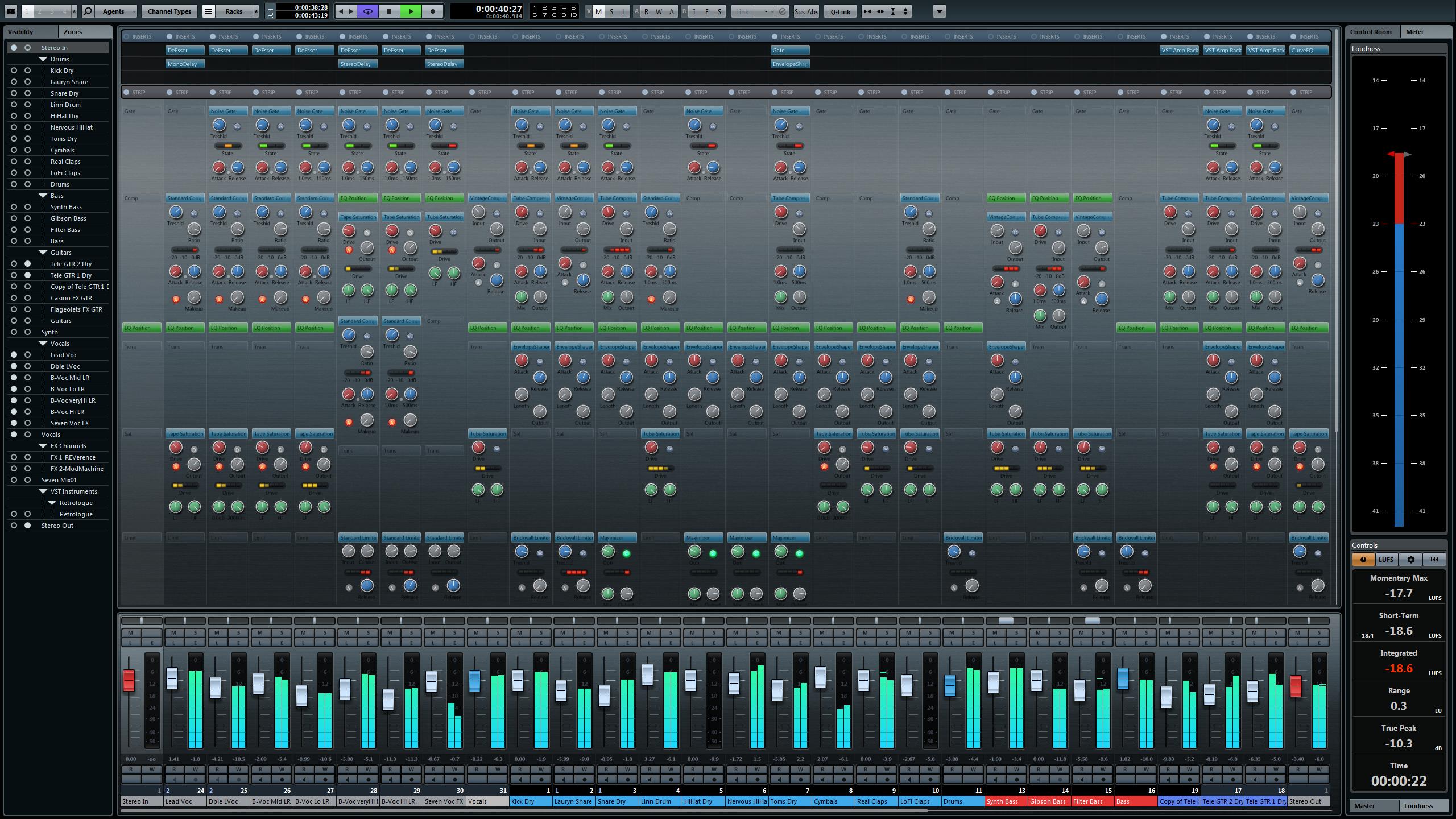 Cubase 7 Mixing console