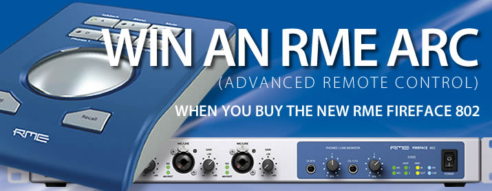 A Chance to win A RME ARC When Buying a FireFace 802
