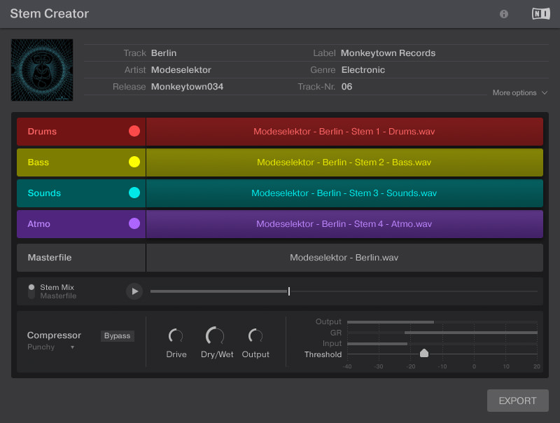 Native Instruments Stems creator tool