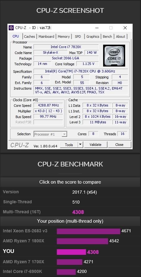 i7 7820X CPUz