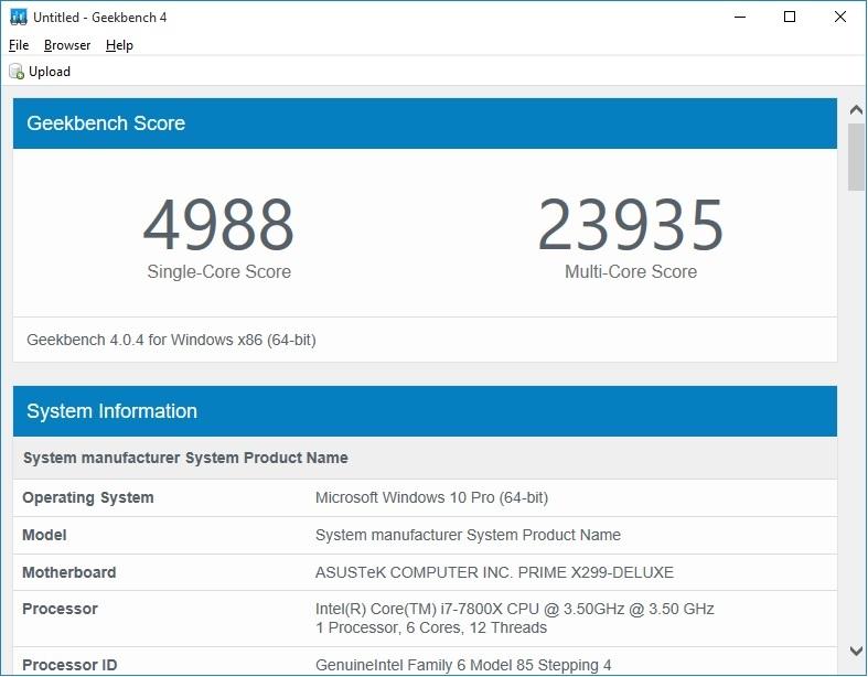 Geekbench 4 7800K