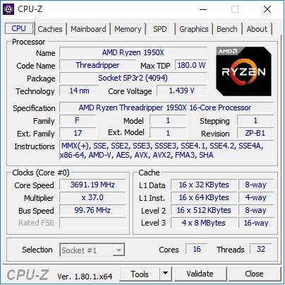 CPUz AMD 1950x