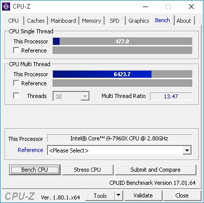7960x CPUid Benchmark